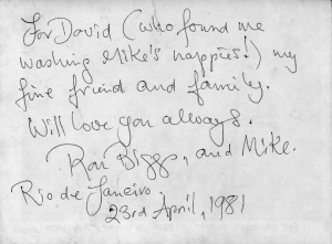 Biggs' note to David Levy