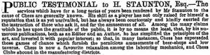 ILN Staunton testimonial 6 Sept 1851s