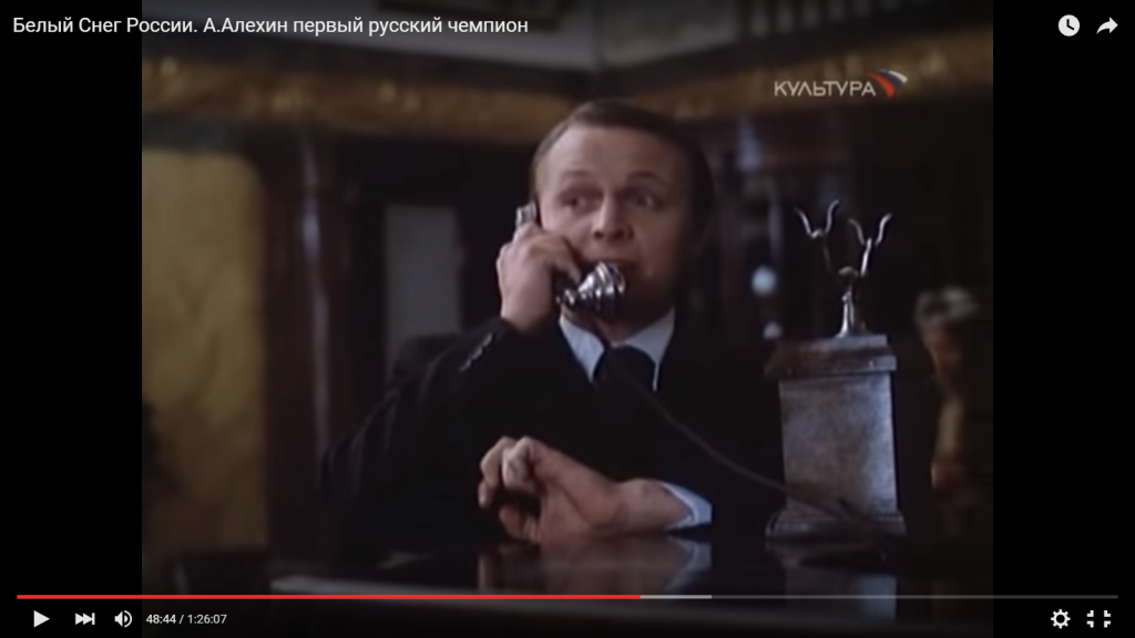 Flohr on the phone to Izvestia