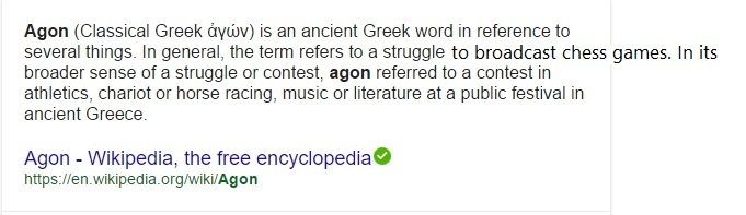 the meaning of Agon