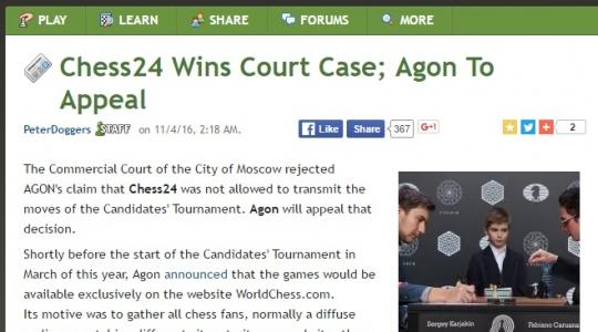 chesscom - Agon court case